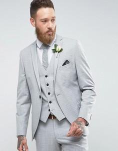 Пиджак скинни Selected Homme - Серый