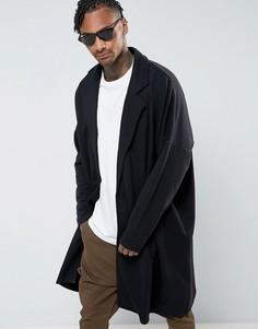 Длинная легкая оversize-куртка из трикотажа ASOS - Черный