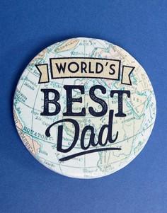 Подставка под напитки с надписью Worlds Best Dad Sass & Belle - Мульти