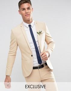 Узкий пиджак песочного цвета Noak Wedding - Светло-серый