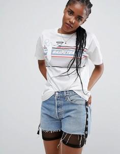 Свободная футболка с принтом ASOS - Кремовый
