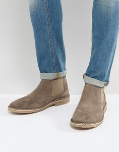 Бежевые замшевые ботинки челси Jack & Jones - Светло-серый