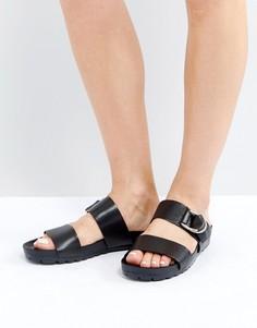 Черные кожаные сандалии Vagabond Erie - Черный