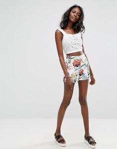 Летние шорты с цветочным принтом Boohoo - Мульти