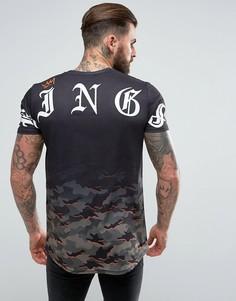 Черная футболка с выцветшим камуфляжным принтом Kings Will Dream - Черный