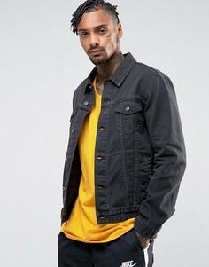 Черная джинсовая куртка ASOS - Серый
