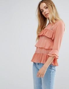 Блузка с ярусными оборками Vila - Розовый