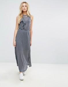 Платье макси в полоску Y.A.S Storma - Мульти