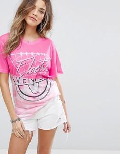 Футболка с принтом Boohoo - Розовый