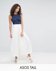 Широкие брюки ASOS TALL Uber - Белый