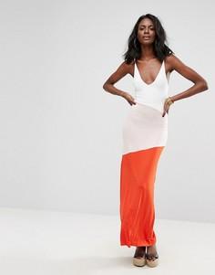 Платье макси в стиле колор блок Boohoo - Мульти
