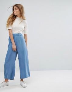Укороченные широкие брюки Dr Denim Abel - Синий