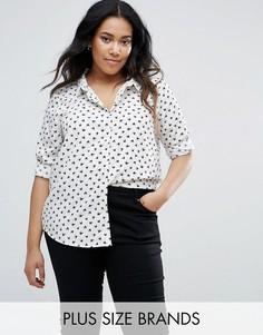 Рубашка с принтом птиц Brave Soul Plus Beatrice - Кремовый