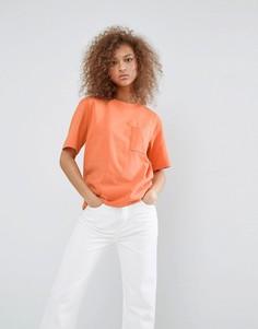 Футболка с карманом Weekday - Оранжевый