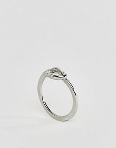 Посеребренное кольцо с узлом Nylon - Серебряный