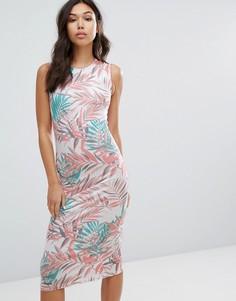 Платье с пальмовым принтом House Of Holland - Белый