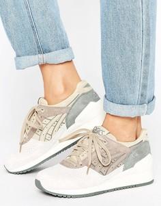 Серо-зеленые замшевые кроссовки Asics Gel-Respector - Зеленый