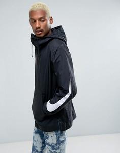 Черная куртка с капюшоном Nike 833866-010 - Черный