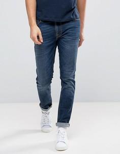 Темно-синие выбеленные джинсы Nudie Jeans Co Lean Dean - Темно-синий