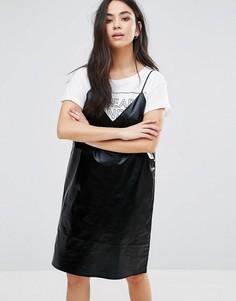 Платье мини на бретельках Cheap Monday - Черный