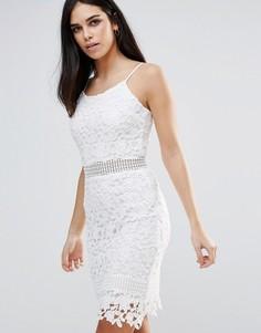 Кружевное платье на бретельках Parisian - Белый