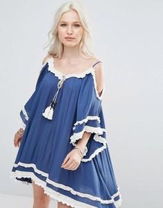 Платье-туника с вырезами на плечах Raga Desert Sand - Темно-синий
