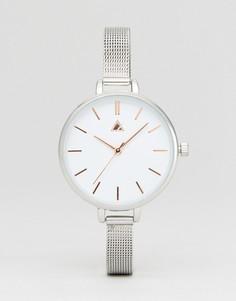 Часы с узким сетчатым ремешком ASOS - Серебряный