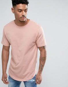 Длинная футболка Troy - Розовый