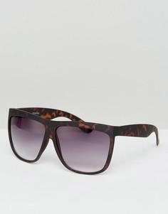 Квадратные солнцезащитные очки ASOS - Коричневый