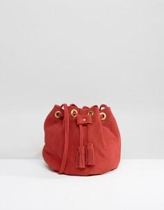 dc0c0b096009 Красная замшевая сумка с кисточками Park Lane - Красный