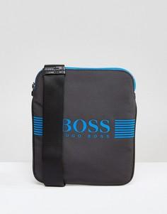 Серая сумка для путешествий с логотипом BOSS Green by Hugo Boss - Серый