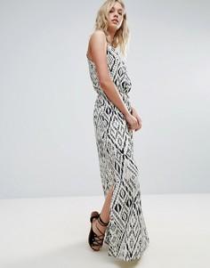Платье макси с принтом Only Nova - Белый
