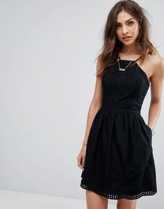 Платье с люверсами Abercrombie & Fitch - Черный