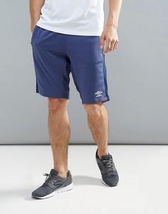 Синие удлиненные шорты Umbro - Синий