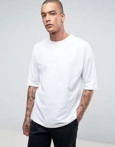 Белая oversize‑футболка ASOS - Белый