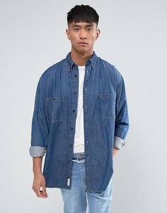 Синяя джинсовая рубашка Cheap Monday - Синий