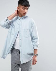 Бледно-синяя джинсовая рубашка Cheap Monday - Синий