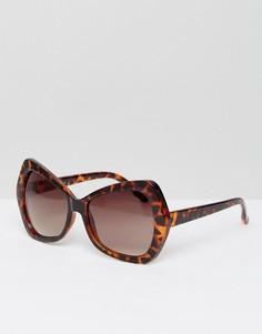 Солнцезащитные очки в массивной черепаховой оправе Jeepers Peepers - Медный