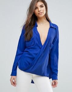 Блузка с запахом Forever Unique - Синий