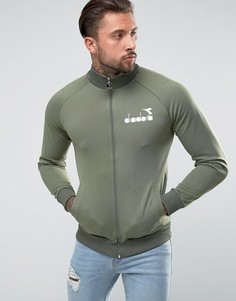 Спортивная куртка с маленьким логотипом Diadora - Зеленый