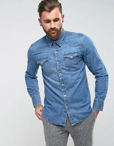 Джинсовая рубашка в стиле вестерн Levis Barstow - Синий Levis®