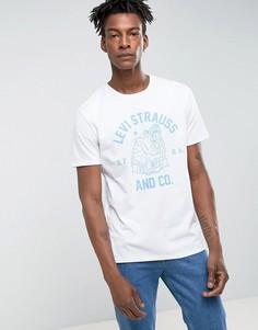 Белая футболка с принтом медведя Levis - Белый Levis®