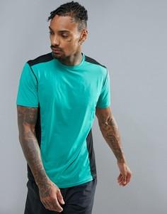 Зеленая футболка со вставками New Look SPORT - Зеленый
