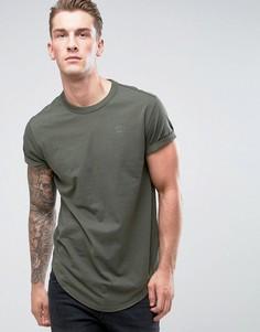 Свободная футболка G-Star - Зеленый