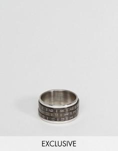 Кольцо с телефонными наборными дисками Reclaimed Vintage Inspired - Серебряный