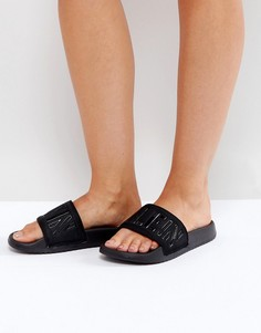 Черные шлепанцы для бассейна Calvin Klein Jeans Chyna - Черный