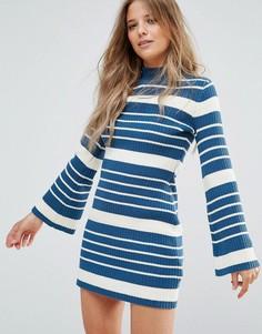 Платье-джемпер Minkpink Linework - Синий