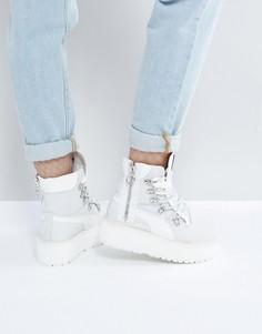 Ботинки на шнуровке с люверсами Puma x Fenty By Rihanna - Белый