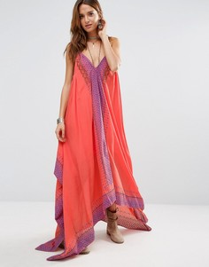 Платье макси Free People Merida - Розовый