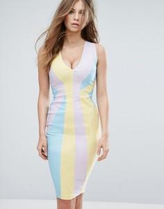 Платье-футляр колор блок Vesper - Мульти